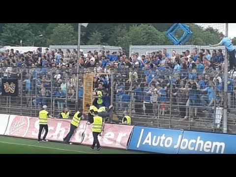 Randale im FC Saarbrücken block Saar Pokal Finale 2018