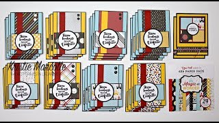 Echo Park's Magic and Wonder collection - One 6x6 paper pad into 34 cards