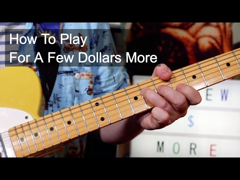 'For a Few Dollars More' Ennio Morricone Guitar Lesson