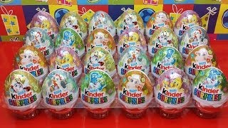 Unwrapping 24 Kinder Surprise Easter Holiday Edition