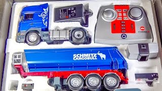 RC truck SCANIA gets unboxed, loaded & DIRTY for the first time!