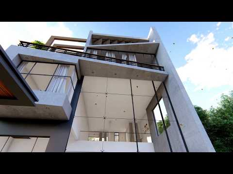 Modern Concrete house l residence at Kuwait