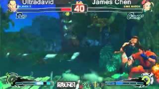 SSF4 AE: UltraDavid (Dan) vs James Chen (Cammy) - levelup (Round One Arcade)