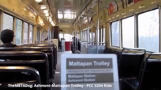 TheMBTADog: MBTA Ashmont-Mattapan High Speed Trolley Line [PCC 3254 Interior Ride]