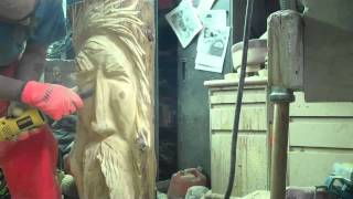 Chainsaw Carving A Woodspirit By John Melo