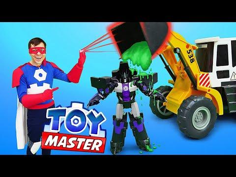 Трансформеры и машинки - Как остановить Мегатрона? – Той Мастер в видео шоу для мальчиков.