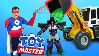 Трансформеры и машинки - Как остановить Мегатрона? – Той Мастер в видео шоу для детей.