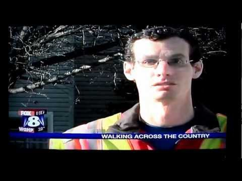 Greensboro, NC TV News (45 seconds), Walk of Inspiration Across America - George Throop