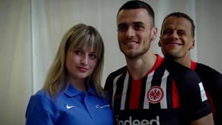 Mannschaftsshooting mit der Eintracht Frankfurt