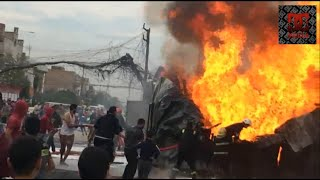 حريق مولدة وسيارة في راغبة خاتون - الاعظمية