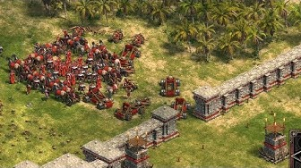 THE GREAT ROMAN WALL - Age of Empires: Definitive Edition Multiplayer Gameplay