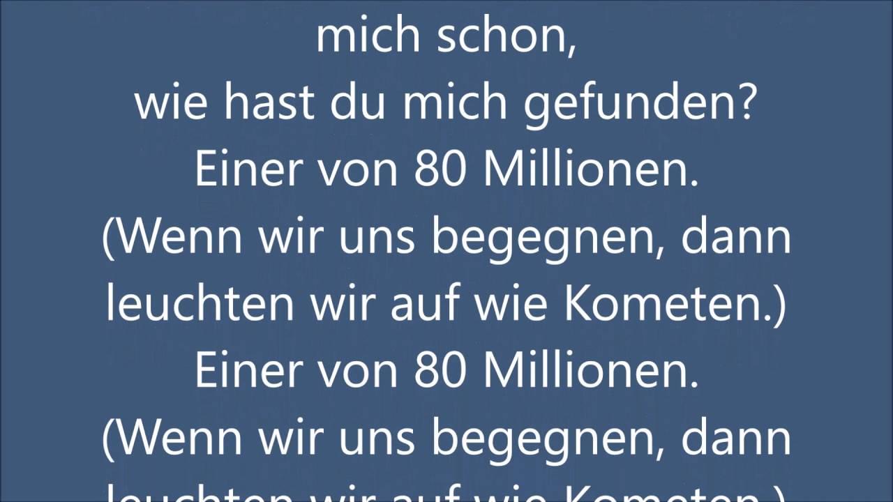 Einer Aus 80 Millionen