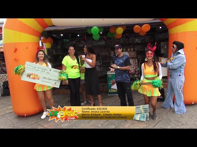 Jessica Lacerda, de Santos, levou 5 Mil Reais 💰