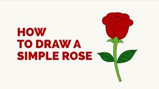 rose draw easy drawing simple step steps drawings roses tutorials beginners tutorial flower flowers easydrawingguides few guides cartoon pretty learn