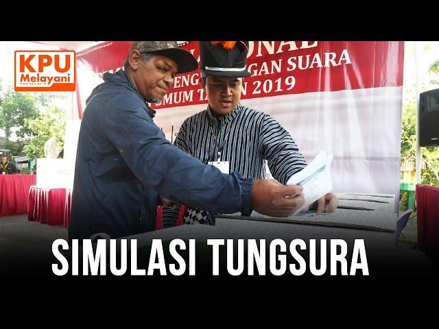 SIMULASI NASIONAL PEMUNGUTAN DAN PENGHITUNGAN SUARA PEMILU 2019 DI GOA SELARONG