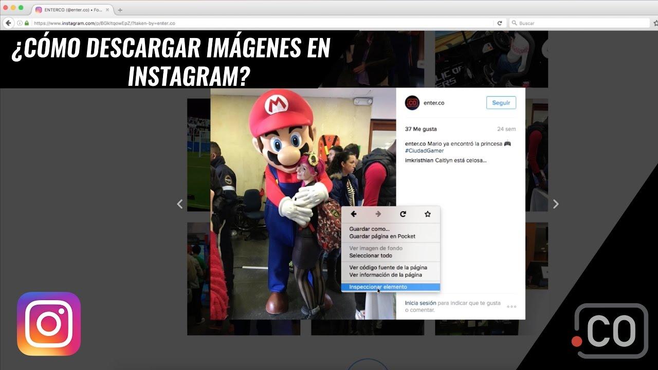 Truco para descargar imágenes de Instagram