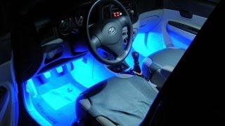 Синяя подсветка салона и ног от прикуривателя. Полный обзор.(Данная подсветка ног отличается яркостью, функциональностью и простотой монтажа. Синее свечение отлично..., 2015-09-21T09:50:54.000Z)