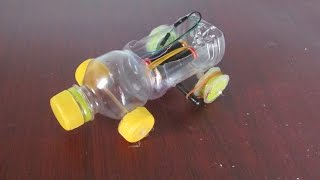 Cara membuat mobil listrik menggunakan botol plastik | Produk kreatif
