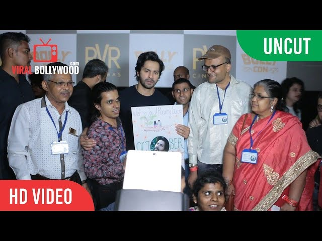 UNCUT - Varun Dhawan Meet's His Fans' At The October Screening | Juhu PVR