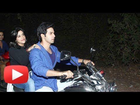 Ekta Kapoor Loses Bike Virginity To Varun Dhawan - Varun Dhawan Bike Ride