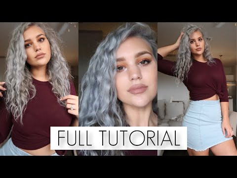 HOW TO: SILVER HAIR AT HOME FULL TUTORIAL