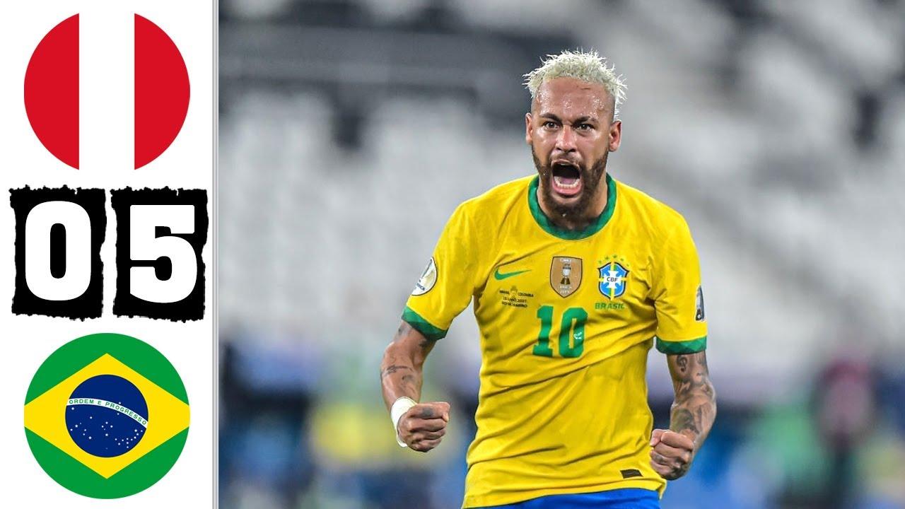 Brazil vs Peru 5-0 Resumen Y Goles 2021 HD