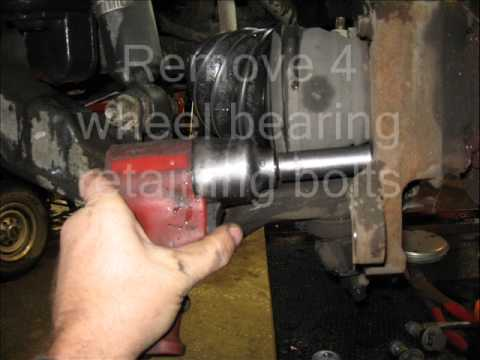 04 Chevy 2500HD Front Wheel Bearing Replacement. - YouTube