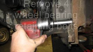 04 Chevy 2500HD Front Wheel Bearing Replacement.