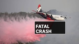 Three killed after air tanker crashes while fighting NSW bushfires | ABC News