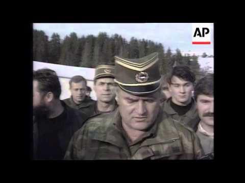BOSNIA: BOSNIAN SERB LEADER RADOVAN KARADZIC WARNING