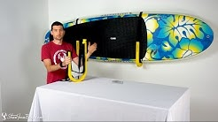 Suspension SUP Wall Rack | Single Paddle Board Storage | StoreYourBoard