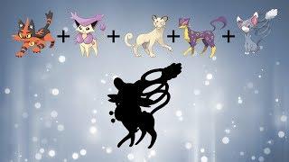 Pokemon Fusion Requests #148: Torracat + Delcatty + Persian + Liepard + Glameow.