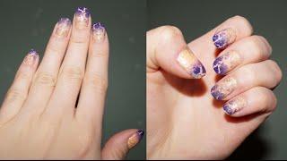 ★Очень простой способ сделать маникюр  омбре или вообще аккуратно накрасить ногти★