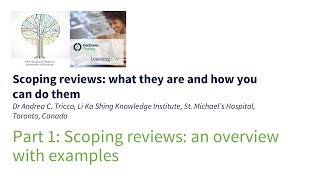scoping reviews: an overview with examples