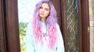 dying my hair pink purple🦄💜💕