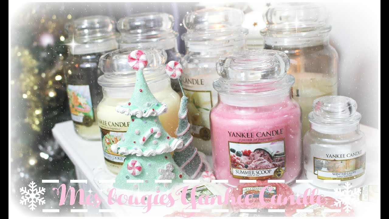 Mes bougies Yankee Candle ♡ - YouTube