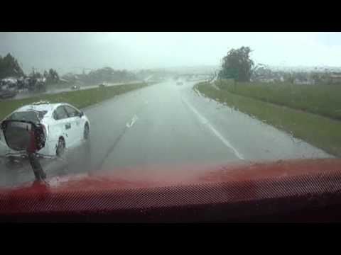 Along for the ride - Driving through the Rain in Jackson Mississippi