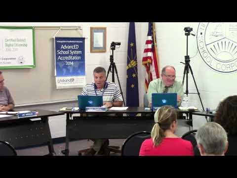 Tipton Community School Corporation Board Meeting July 9, 2019