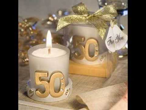 Best Gold 50th Anniversary Party Favors  YouTube