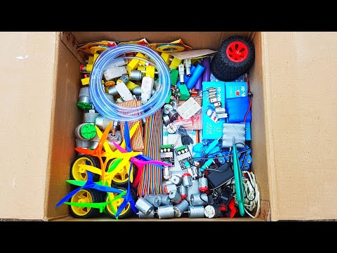 Science Project Kit Unboxing For School Students, 775DC Motor, Drone Motor, Gear Motor For Train