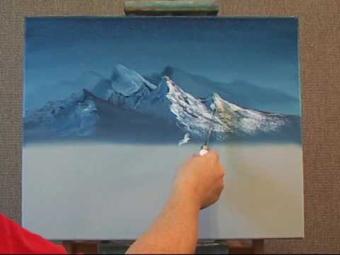Learn how to create a foreground mountain the easy way for Learn to paint with oils for free