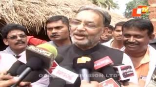 Union minister hurled eggs in Odisha