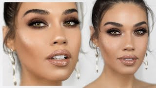 Shay Mitchell Inspired Bronzy Smokey Eye Makeup | Eman