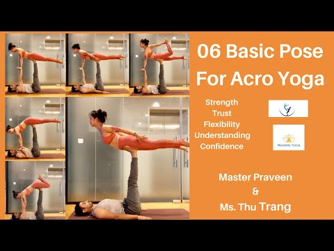 06 Basic Pose for Acro Yoga | Beginner Guide for Acro Yoga| Praveenyoga