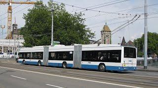 Trolleybus bi-articulé de Zurich