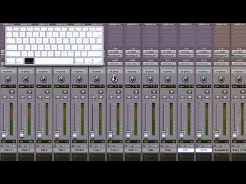 Pro Tools 9 - Creating and Using Edit & Mix Groups - Mac OS X & Win 7