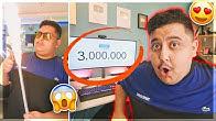 Reacting to 3 Million Subs 😱🎉!! ردة فعلي على لحظة وصولي 3 مليون مشترك في اليوتيوب