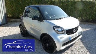 Used Smart Car Coupe Automatic in Cool Silver 2018 in Crewe Cheshire