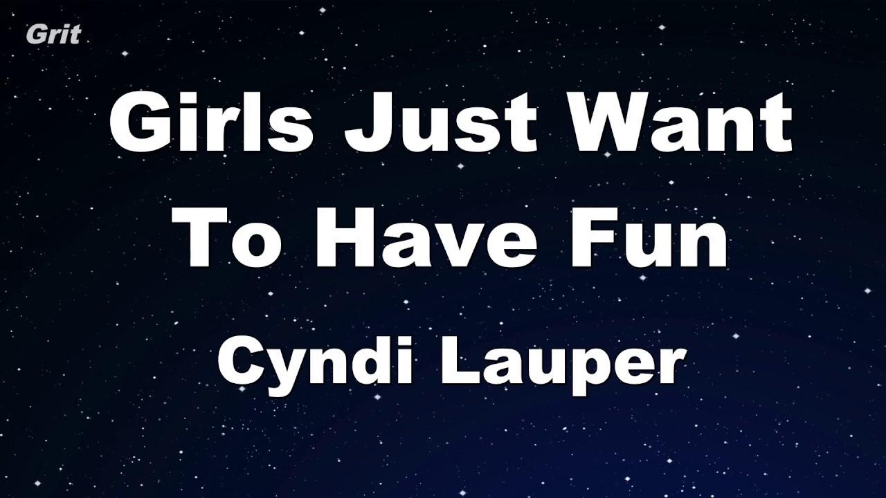 Girls Just Want To Have Fun - Cyndi Lauper Karaoke 【No Guide Melody】 Instrumental
