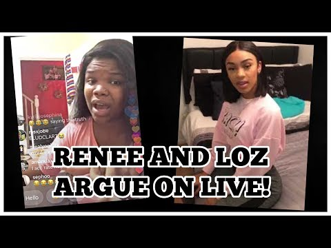 RENEE & LOZ EXPLOSIVE ARGUMENT ON LIVE! REACTION!
